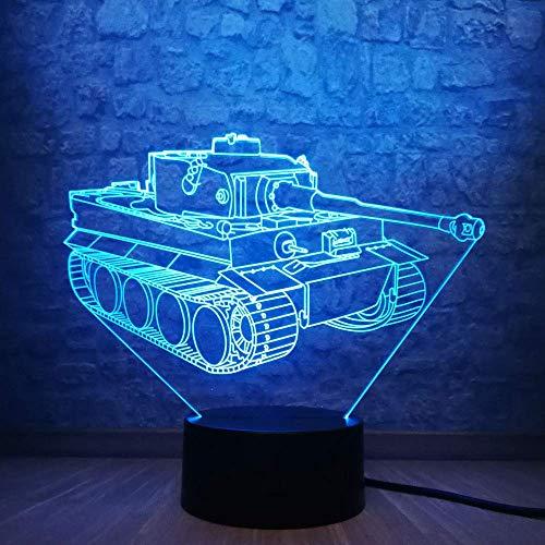 3D Illusion Lampe/Kinder LED Nachtlicht // Tank/Light Up Geschenke/Umweltfreundliche Geschenke/Weihnachtsgeschenke für Freundin/Lampen