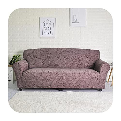 Funda de sofá elástica geométrica para sala de estar moderna seccional esquina sofá funda de sofá cubierta de silla protector 1/2/3/4 plaza-Ingrid marrón 1 plaza-90-140 cm