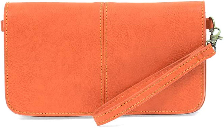 Joy Susan orange Mia Multi Pocket Crossbody Clutch