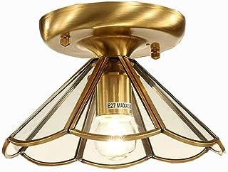 JJZXD Vintage Dining Room Retro Lamp Vintage Copper Pendant Light Industrial Ceiling Lamp