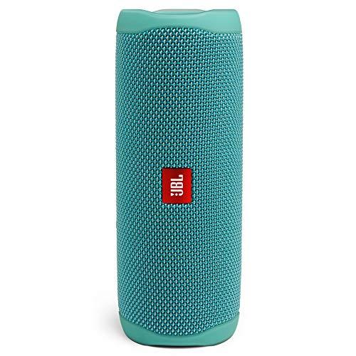 JBL Flip 5 – Enceinte Bluetooth portable robuste – Conception étanche pour piscine & plage – 12 heures d'autonomie – Son unique de JBL – Vert d'eau