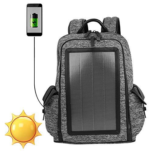 Keen so 7W Solar Rucksack, 45 * 35 * 16cm Anti-Diebstahl-Laptop-Tasche USB-Aufladung für Laptop-Tablet Outdoor-Reise Business-Tasche