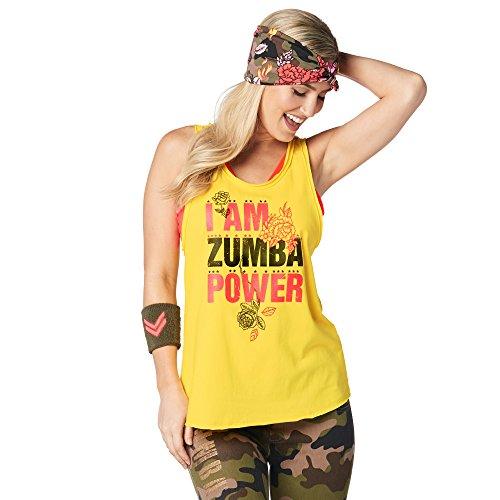 Zumba Fitness Dance Atlético Estampado Fitness Camiseta Mujer Sueltas de Entrenamiento Top Deportivo Loose Tank, Sunrays, XX-Large