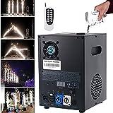 ZRZJBX Mini Cold Fireworks Machine 600W Fireworks Simulator, DMX Machine Firework Effect Machines with Remote Control for DJ Parties,Big Show,Wedding,Black