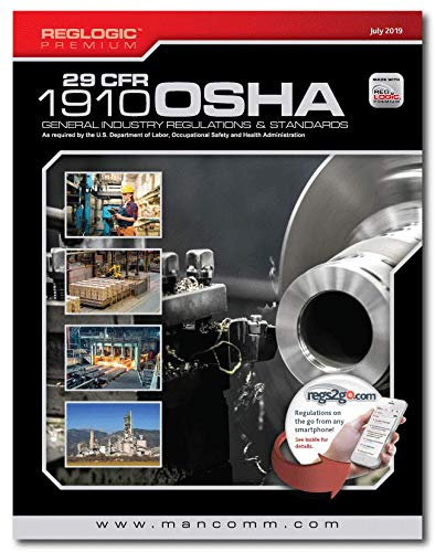 Compare Textbook Prices for Mancomm 29 CFR: Parts 1910-End OSHA General Industry Regulations Premuim, July 2019  ISBN 9781599592510 by Mancomm
