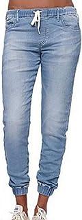 Morbuy Jean Femme Taille Haute Grande Taille, Stretch Skinny Slim Sexy Déchiré Troué Crayon Pantalons Droit Bootcut Push U...