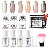 ROSALIND Dip Powder Nail Art Kit Completo Liquidi 6 Colori Acrilici Polveri Di Unghie 10g Rosa Polvere Acrilica Unghie Colorata