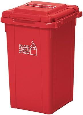 サンコープラスチック 日本製 ジョイント式 ゴミ箱 ビスダボ 33L レッド 451514