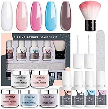 EdenRays Nail Dip Powder Kit with Liquid Gel