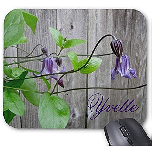 utong Tappetino per Mouse Personalizzato Clematis Roguchi Viola Mousepad