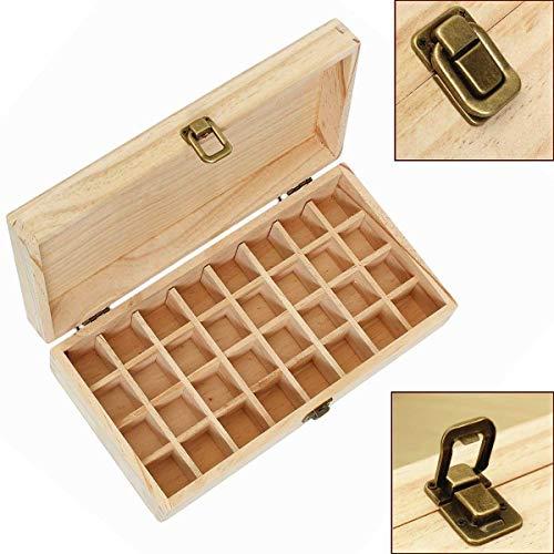 Almacenamiento de aceite esencial de la Caja de madera de las cajas de almacenamiento de 32 botellas de perfume