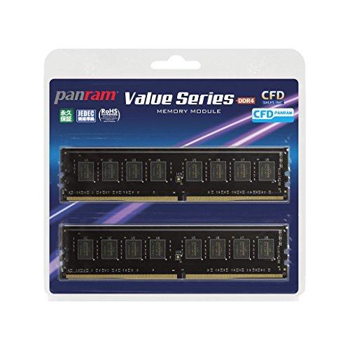 {CFD販売  デスクトップPC用メモリ PC4-17000(DDR4-2133) 8GB×2枚 288pin DIMM (無期限保証)(Panramシリーズ) W4U2133PS-8G}