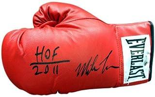 Mike Tyson Signed Red Everlast Boxing Glove HOF 2011 LH TriStar Stock #73130 - Boxing Memorabilia