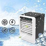 IGOSAIT Silenzioso Mini condizionatore d'aria dispositivi di raffreddamento, USB scrivania ventilatore, aria portatile del dispositivo di raffreddamento for la casa camera da letto Office Desktop Como