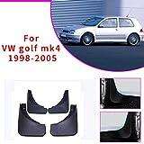 4 Piezas Negros Coche Faldón Guardabarros Delanteras y Traseras para V OLKSWAGEN VW Golf 4 Mk4 Golf 5 Mk5 IV V Bora 2003-2008 Embellecedores y Accesorios para Carrocería