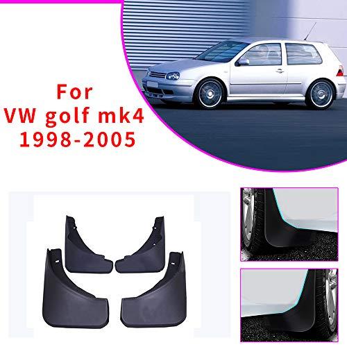 Cobear Auto Schmutzfänger Kotflügel passt für V OLKSWAGEN VW Golf 4 Mk4 Golf 5 Mk5 IV V Bora 2003-2008 Vorne Hinten Gummi-Spritzschutz Car Styling & Karosserie-Anbauteile Schwarz 4 Stück