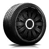 Eight Tec Handelsagentur (Farbe und Größe wählbar!) 16 Zoll Radkappen Onyx (Schwarz) passend für Fast alle Fahrzeugtypen (universell) - vom Radkappen König