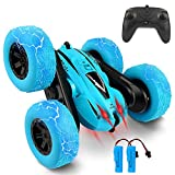 Remote Control Car, Bukm RC Stunt Cars Toy, 4WD 2.4Ghz Double Sided 360° Flips Rotating Vehicles, Off Road High Speed Racing Truck for 3 4 5 6 7 8-12 Year Old Kids Boys Girls Christmas Birthday Gift