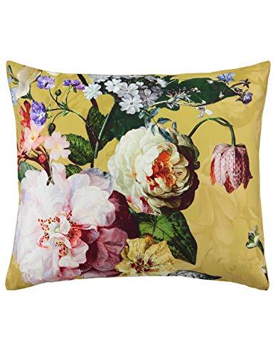 ESSENZA Bettwäsche Fleur Blumen Pfingstrosen Tulpen Baumwollsatin Gelb, 135x200 + 1x 80x80 cm