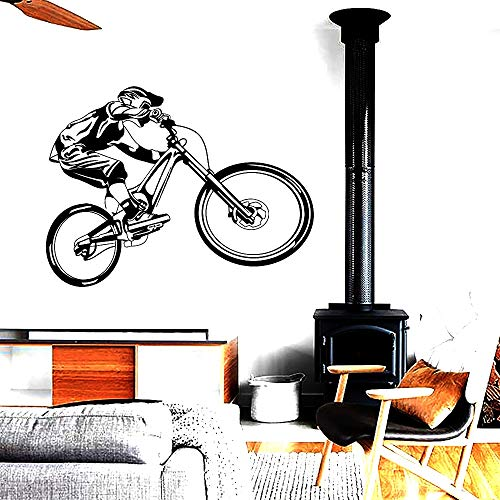 Tianpengyuanshuai Mountain bike extreme sports riding off-road motorcycle wall stickers modern garage bedroom home decor -42x32cm