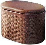 Cambio de zapatos Cambio de taburete Ottomans Taburete de pie con almacenamiento, tejido de ratán Taburetes de descanso de pie, almacenamiento de escabeches al aire libre - Sofá Set de asiento Set de