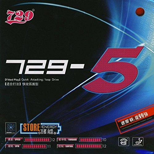 Friendship 729-5 (2,2 mm - schwarz) - Schütt Tischtennis - China Tischtennis Belag/ITTF/TT-Spezial – Schütt Tischtennis