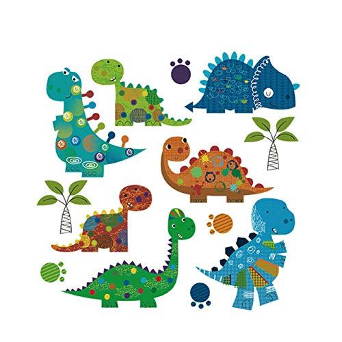 Parche de hierro cultural tradicional Bebé Niño Patrón de animal de calor Dibujos animados DIY Dinosaurio Animal Pegatinas de transferencia de calor para camiseta Ropa Jeans Mochila Decoraciones