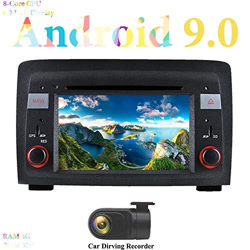 XISEDO 6.2' Android 9.0 Autoradio 8 Core In-dash Car Radio RAM 4G ROM 32G Navigatore GPS e Lettore DVD per Fiat Idea (2003-2007) (con DVR)