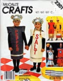 McCalls 2201 Costumes Sewing Pattern: Salt and Pepper Shakers, Pencils, Rockets, Check Listings for Size