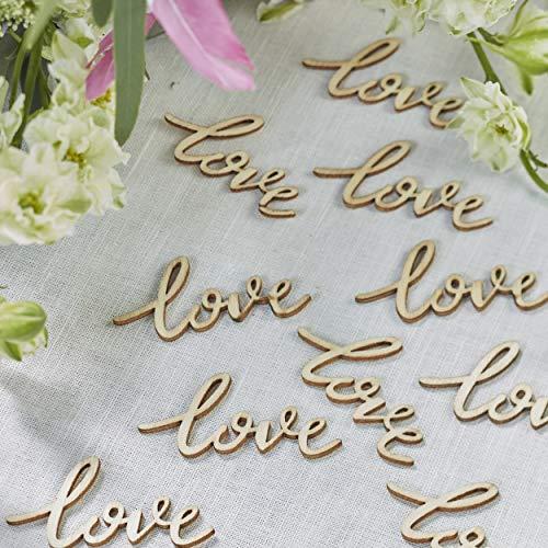Ginger Ray Holz-Streukonfetti für Hochzeiten, 25 Stück