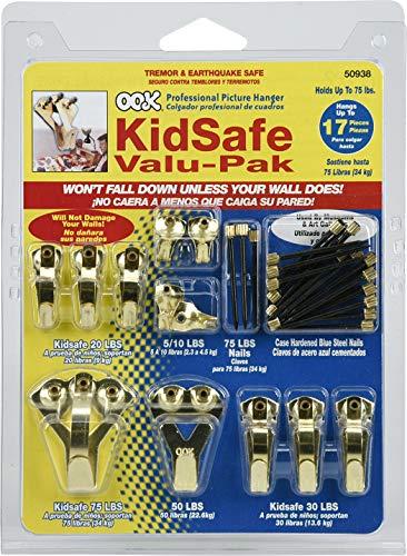 OOK by Hillman KidSafe 535862 Value Pak Kit de cintres 4,5 - 34 kg