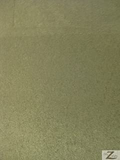 Suede Microsuede Upholstery Fabric-Olive- 58