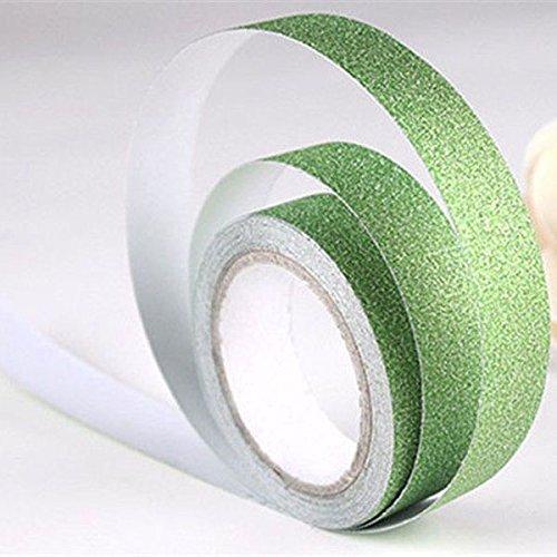 1rotolo 5m Craft glitter Washi tape Book Decor DIY carta adesiva adesivo (verde)