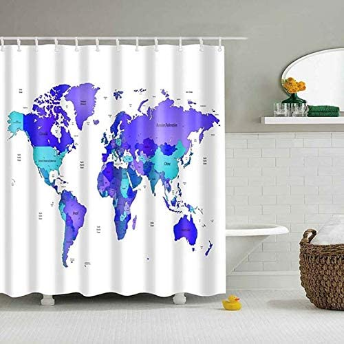 Amazon Com Peng Spor Different World Map Pattern Shower Curtains Printed Bathroom Curtains Shower Wall Hanging Map Curtain World Map Shower Curtains Home Kitchen