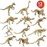 ArtCreativity Dinosaur Skeleton Toys, 6 -7 Inch Dino Figures for Kids - Pack of 12 - Exciting Variety - Cool Birthday Party Favors for Boys and Girls, Goody Bag Fillers, Room and Desk Decorations