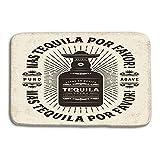 Cocina Piso Baño Entrada Alfombrillas Alfombra Vintage mas Tequila por Favor Más Tequila por Favor Etiqueta de tipografía Botella editable Alfombrillas Antideslizantes