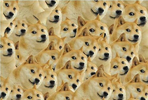 Unbekannt Doge God nerviges Hundepuzzle 1000 Stück Holz der Erwachsenen Herzkrankheit geistige Beerdigung Spree Verschmutzung Erhu Eier