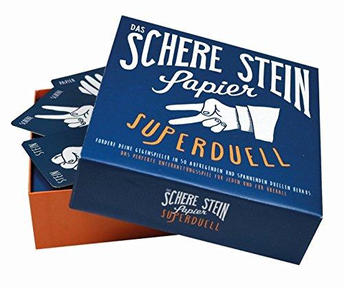 Preis am Stiel Gesellschaftsspiel ''Schere Stein Papier'' | Kartenspiel | Spieleabend | Fragen | Familie | Spiel | Kommunikationsspiele | Lustig | Mitbringspiel | Partyspiel | Ratespiel | Trinkspiel
