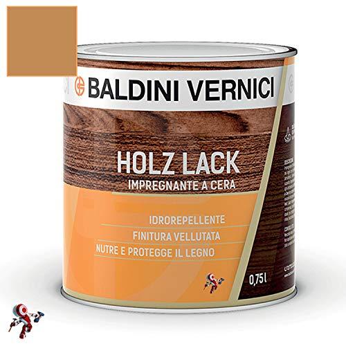Impregnante per legno esterno interno a Cera Solvente Baldini Vernici 750 ml impregnante a cera per legno 9 colori impregnante baldini impregnante legno esterno interno (ROVERE 703)