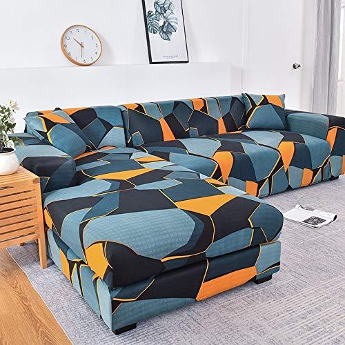 Fundas de sofá en Forma de L para Sala de Estar Fundas de sofá elásticas Funda de sofá Funda de sofá de Esquina elástica Chaise Longue A19 1 Plaza