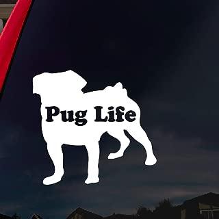 SoCoolDesign Pug Life Puppy Car Window Vinyl Decal Sticker 4