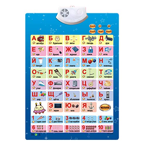 Education Toys Russian Music Alphabet Talking Poster Russia Kids Electronic ABC