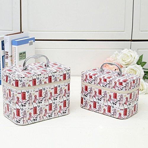 Boîte de rangement cosmétique sac cosmétique cosmétiques plein air voyage mode bain organisateur de maquillage maquillage stockage de brosse de maquillage cadeau de petite amie surprise garçons pour les filles porte-rouge à lèvres sac portable imperméable femme toilette-C