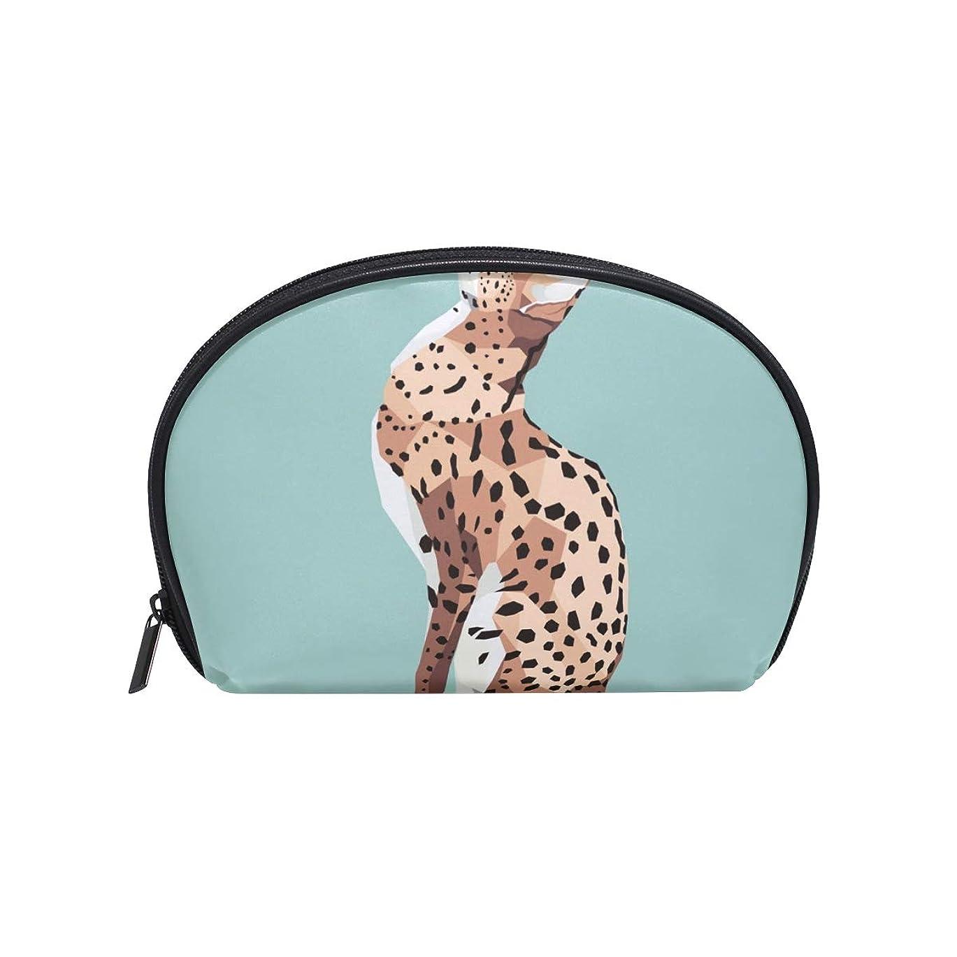 一握り保存に渡って半月型 Serval柄 Cat柄 Wild 化粧ポーチ コスメポーチ コスメバッグ メイクポーチ 大容量 旅行 小物入れ