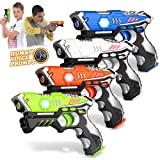 Kidpal Laser Tag, Upgraded Gun Toys for Kids 8-12, Infrared Battle Mega Pack Set of 4 Indoor and Outdoor, Lazer tag Set for 6-12boys, Group Activity Fun for Age 5 6 7 8 9 10 11 12+ Years Boys Girls