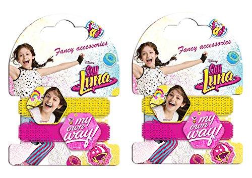 Soy Luna - Pack de 2 coleteros y pulsera (Kids WDSL028) , color/modelo surtido