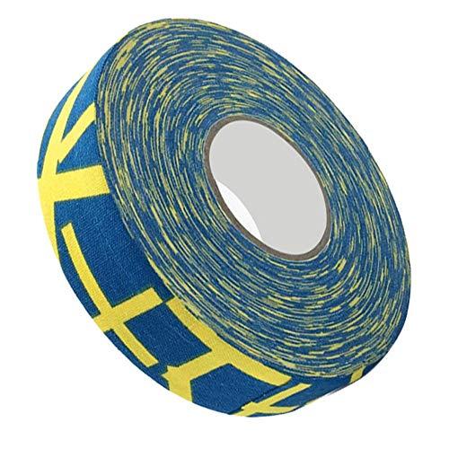 Hockey-Schutzband, Badmintonband, verschleißfestes Hockeyschlägerband Sportsicherheit für Sportgeräte für(Yellow plus)