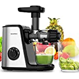Masticating Juicer Machines, Bonsenkitchen Cold Press Juicer for Fruit & Vegetable, Easy to Clean,...