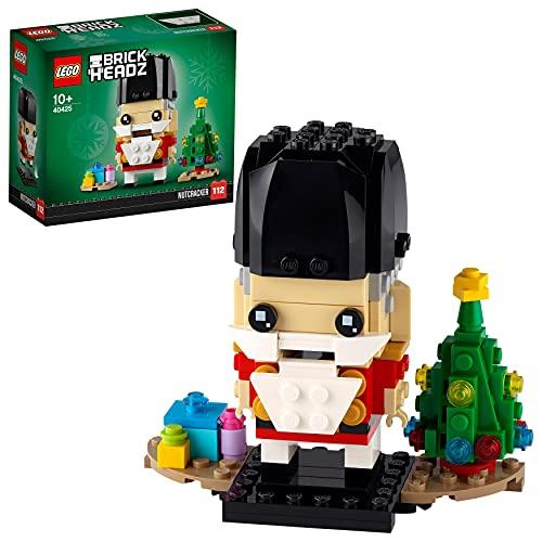 LEGO 40425 BrickHeadz Nussknacker Weihnachtsspielzeug mit Weihnachtsbaum, Männer, Frauen und Kinder ab 10 Jahren
