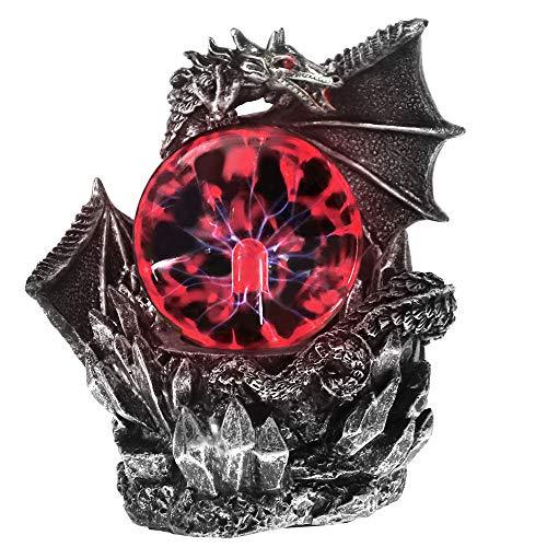 ZXDH Estatua Dragón Medieval Resina Estatua Dragones Oscuros Guardián Tacto de Halloween...